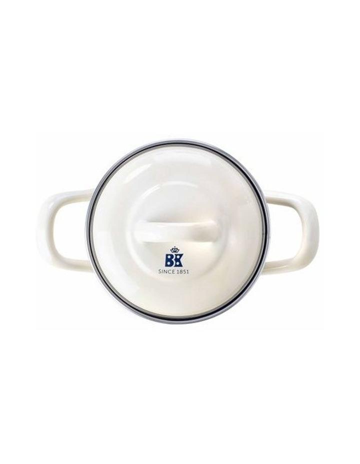 Mini Casserole Cream with Blue Interior 10cm image 2