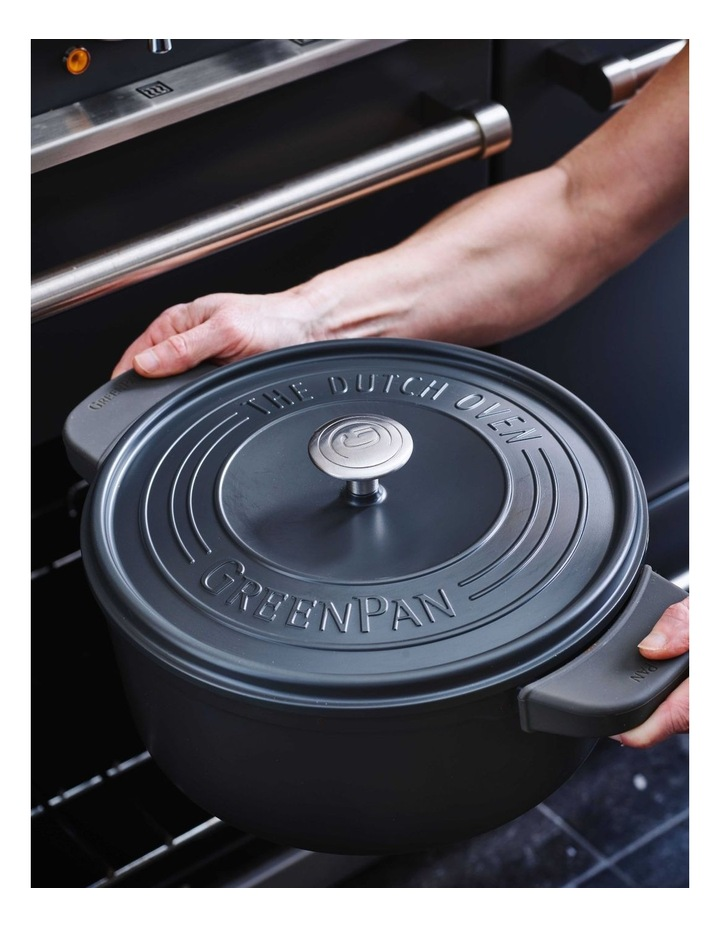 Featherweights Casserole with lid 24cm/4.2L Grey image 4