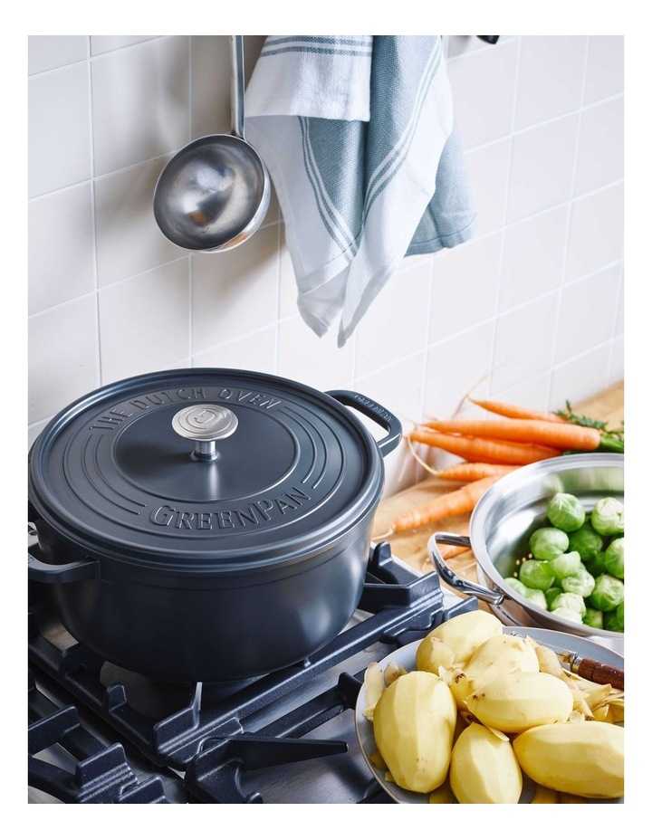 Featherweights Casserole with lid 24cm/4.2L Grey image 6