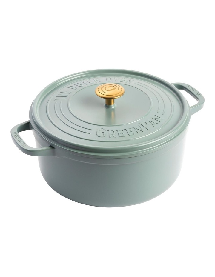 Featherweights Casserole with lid 24cm/4.2L Smokey Blue image 1