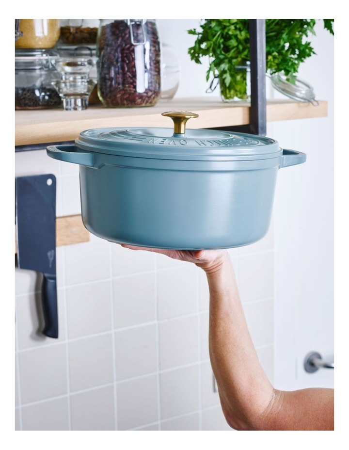 Featherweights Casserole with lid 24cm/4.2L Smokey Blue image 4