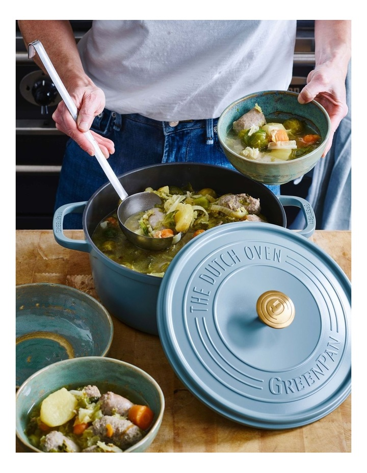 Featherweights Casserole with lid 24cm/4.2L Smokey Blue image 5