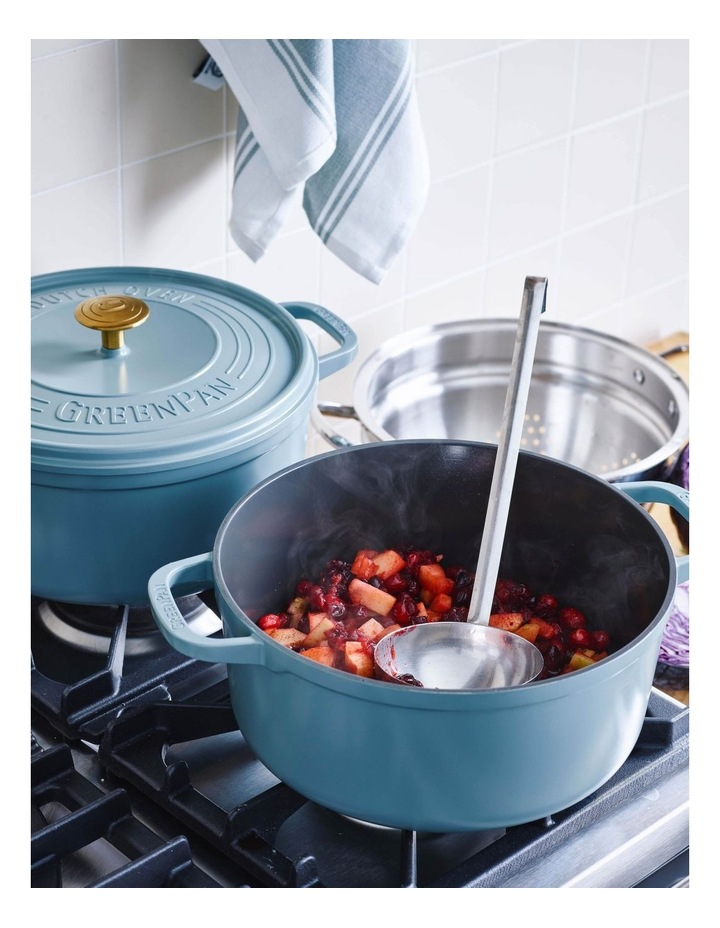 Featherweights Casserole with lid 24cm/4.2L Smokey Blue image 6