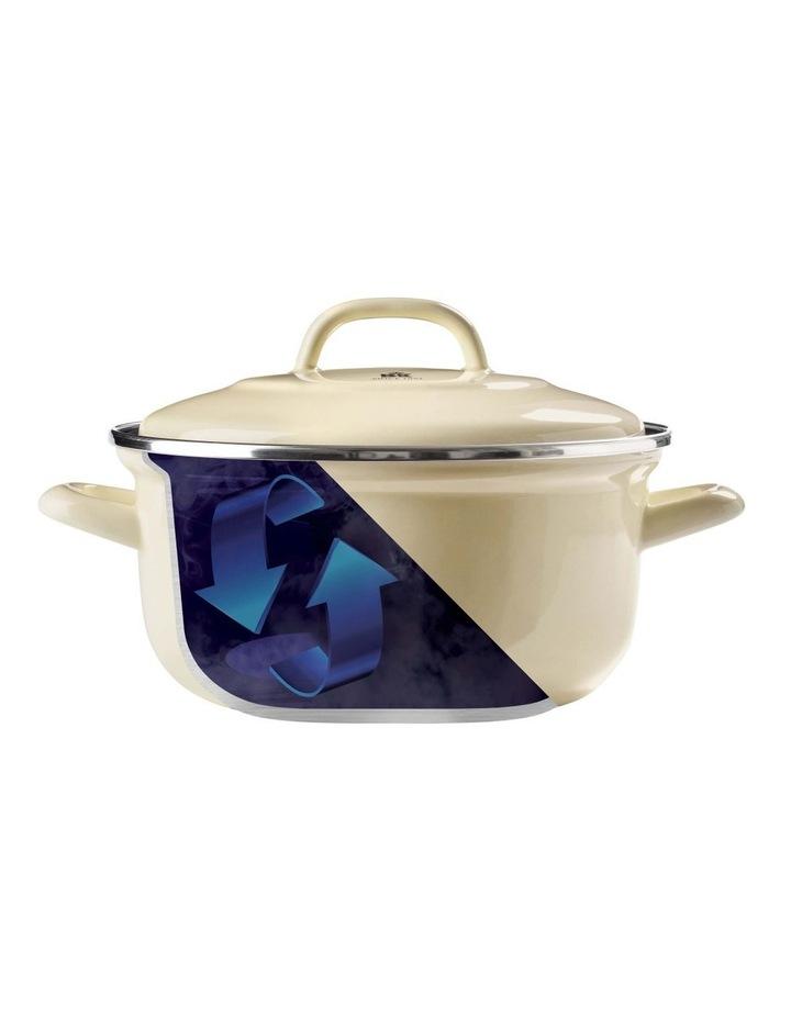 Dutch Oven Cream with Blue Interior 22cm image 3