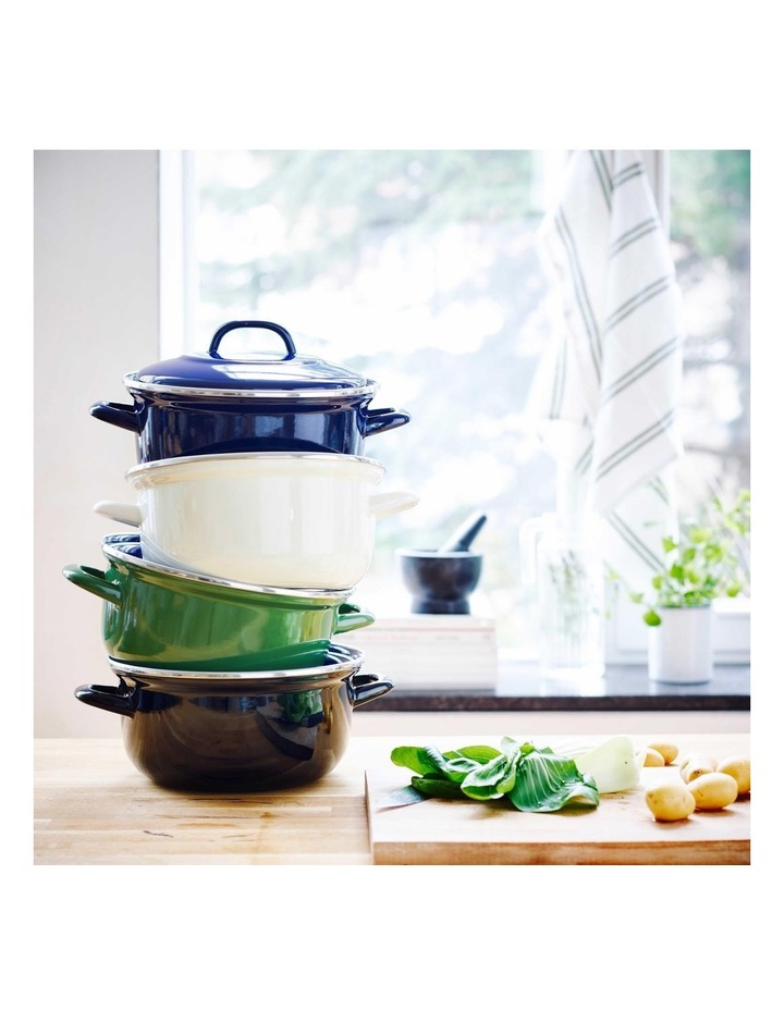 Dutch Oven Cream with Blue Interior 22cm image 4