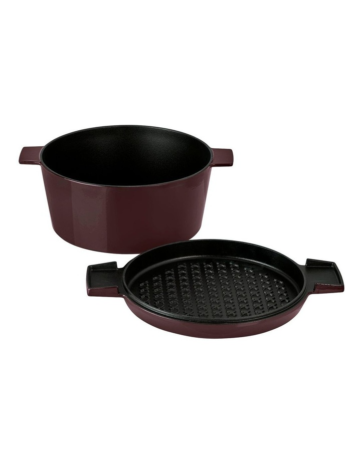 FRENCH OVEN GRILL DUO Bordeaux 28cm / 6.5L image 3