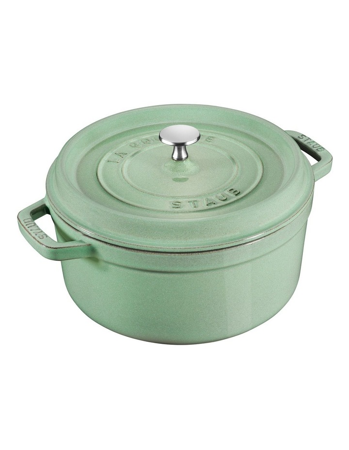 Staub Round Cocotte Sage Green 26cm image 1
