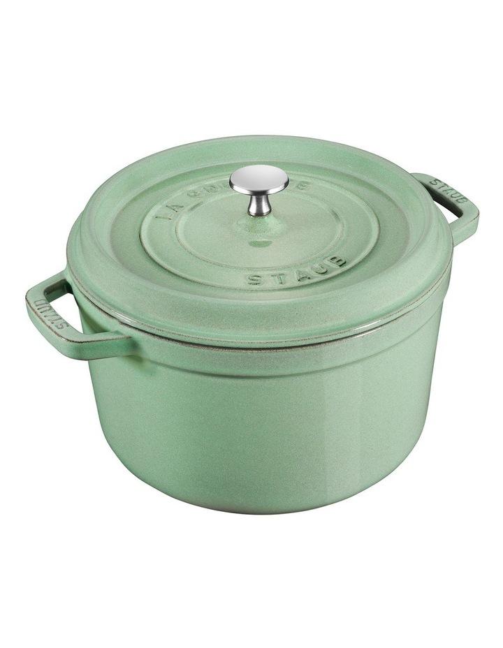 Staub Round Cocotte 28Cm Sage Green image 1