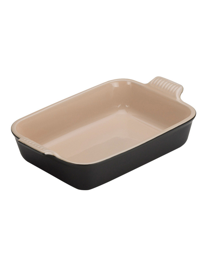 Heritage 26cm Rectangular Dish - Satin Black image 1