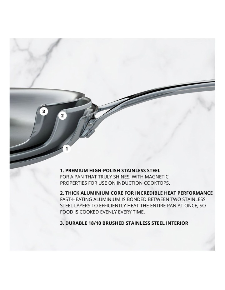 Per Sempre Stainless Steel 18cm/2.8L Induction Covered Saucepan image 3