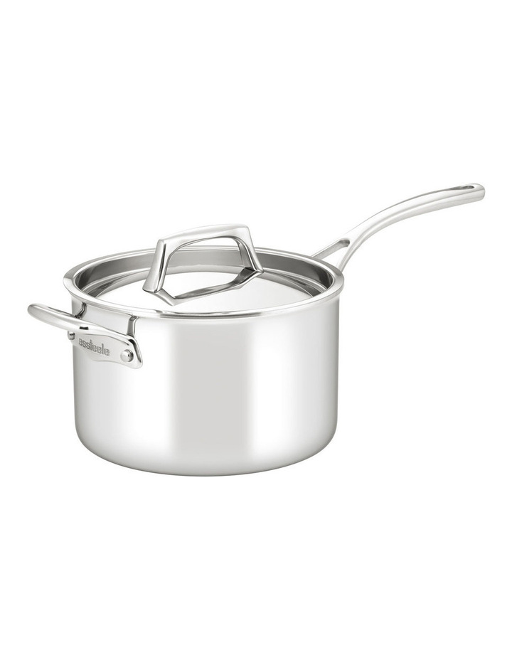 Per Sempre Stainless Steel Clad 20cm/3.8L Saucepan: Made in Italy image 1