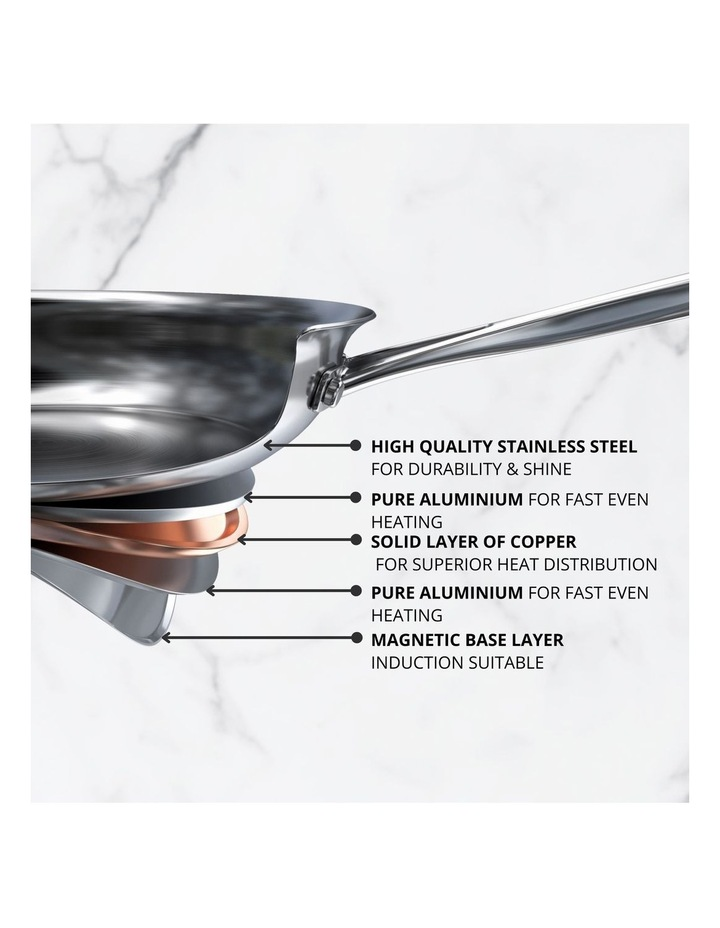 Per Vita Stainless Steel 28cm/5.2L Induction Covered Sauteuse image 2