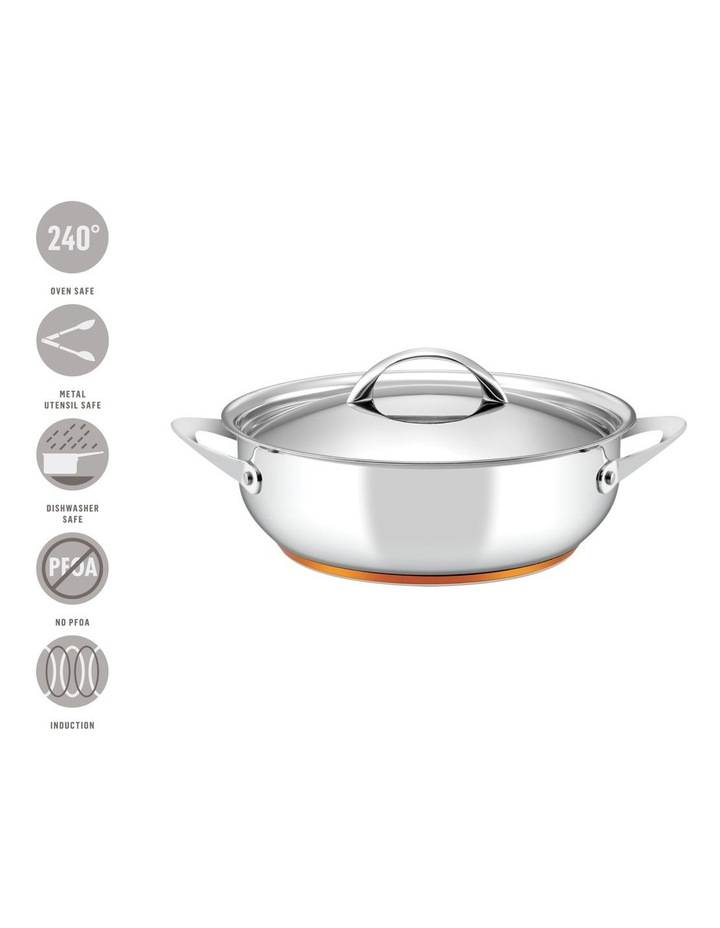 Per Vita Stainless Steel 28cm/5.2L Induction Covered Sauteuse image 3