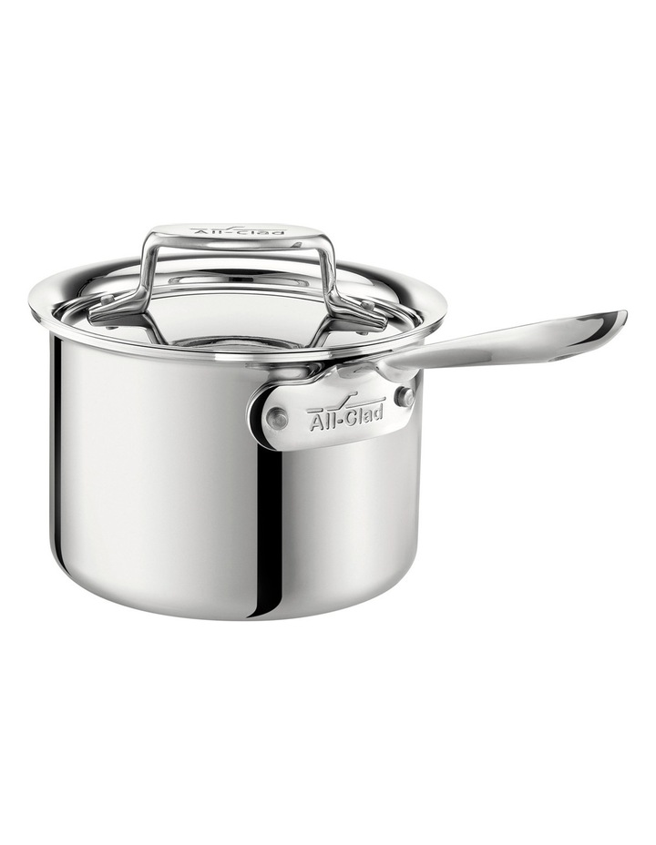 D5 5-Ply Stainless Steel 15cm/1.9L Saucepan: Made in the USA image 1