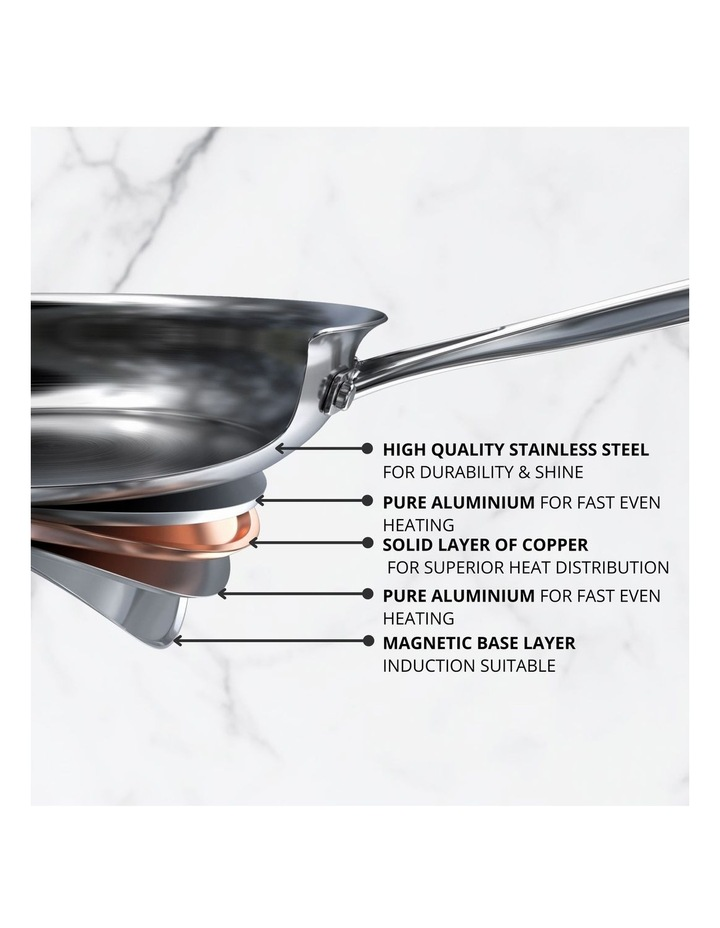 Per Vita Stainless Steel 30cm/4.7L Induction Open Chef Pan image 2
