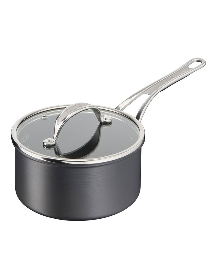 Cooks Classic Hard Anodised Induction Saucepan w/lid 18cm image 1