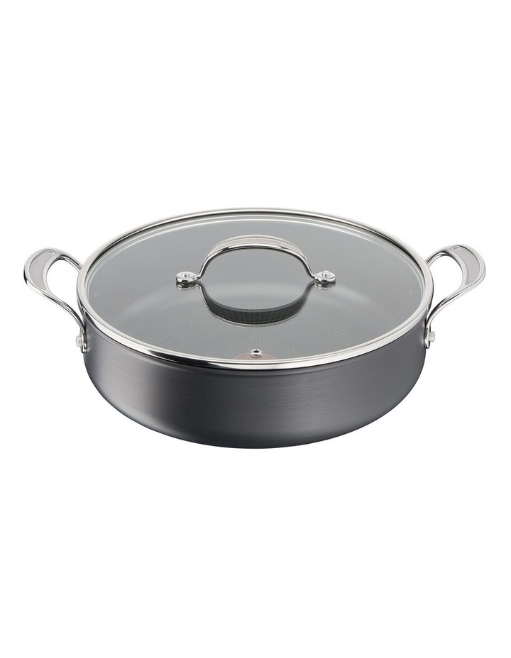 Cooks Classic Hard Anodised Induction Shallowpan w/lid 30cm image 1