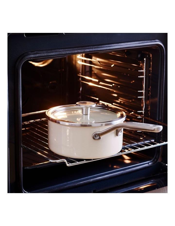Steel Core Enamel Covered Saucepan Almond Cream 18cm image 4