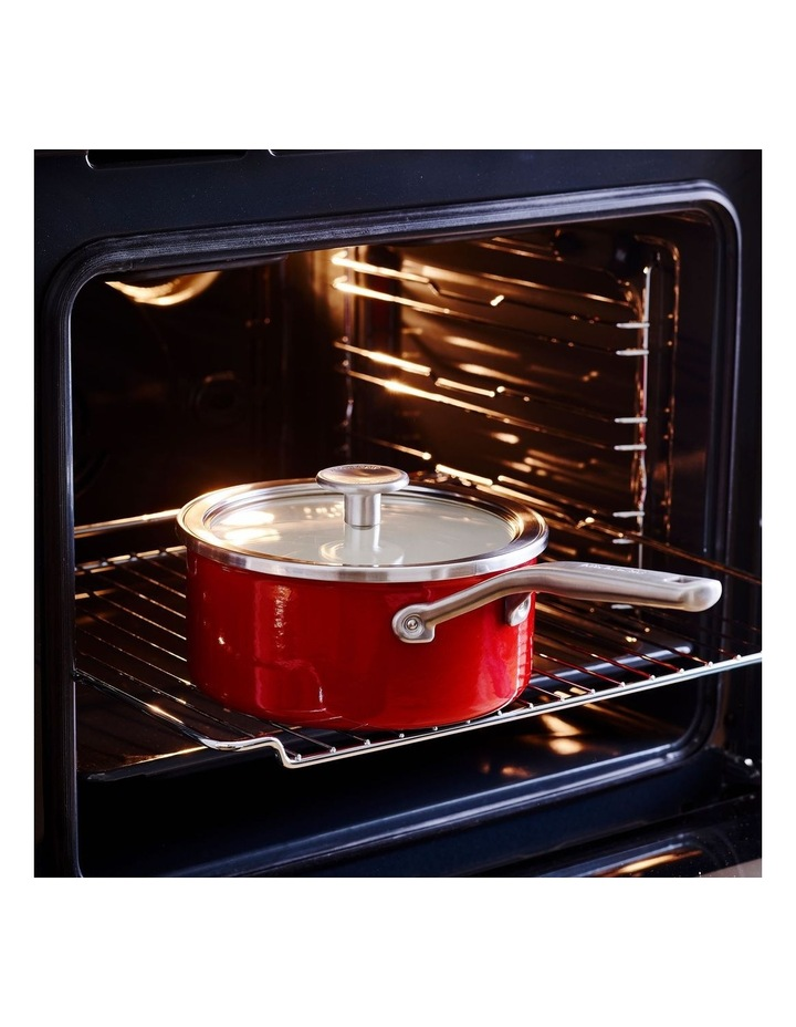 Enamel Steel Core Covered Saucepan Empire Red 18cm image 4