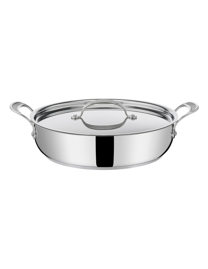Cooks Classic Non-Stick Induction Stainless Steel Shallowpan   lid 30cm image 4