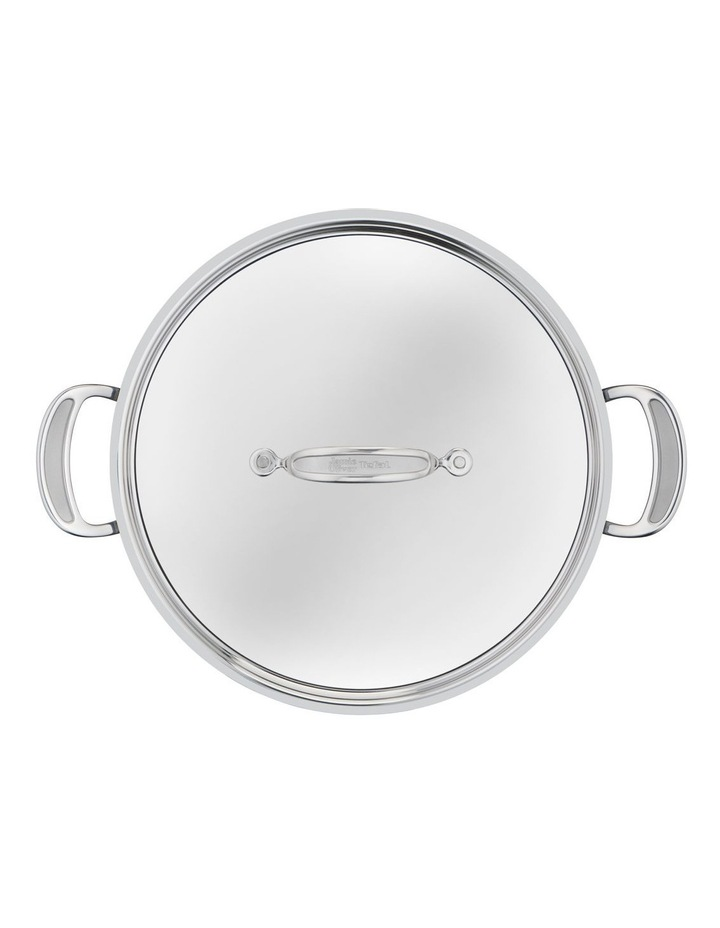 Cooks Classic Non-Stick Induction Stainless Steel Shallowpan   lid 30cm image 5