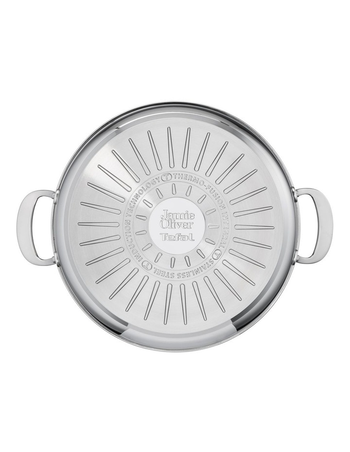 Cooks Classic Non-Stick Induction Stainless Steel Shallowpan   lid 30cm image 6