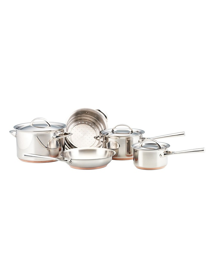 Per Vita Stainless Steel Copper 5 Piece Cookware Set: Made in Italy image 1