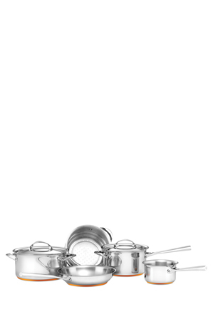 Essteele - Per Vita Stainless Steel Copper 5 Piece Cookware Set: Made in Italy