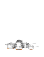 Per Vita Stainless Steel Copper 5 Piece Cookware Set: Made in Italy