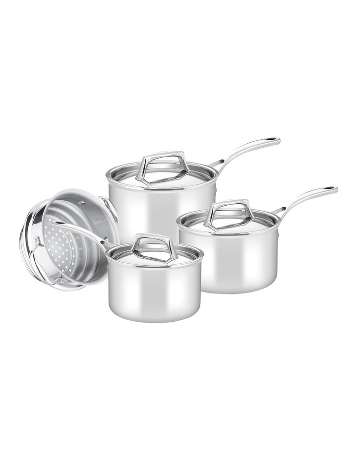 Per Sempre Stainless Steel Clad 4 Piece Cookware Set: Made in Italy image 1