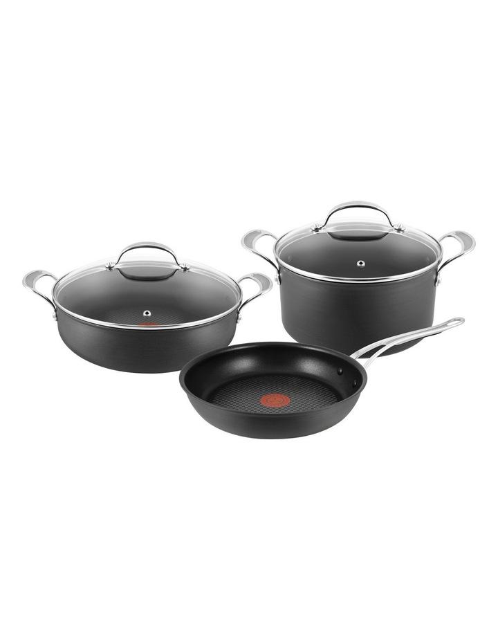 Premium Hard Anodised Induction 3 Piece Set - 28cm Frypan  30cm Pot Roast 30cm & 24cm Stew Pot image 1