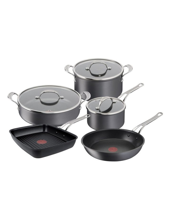 Cooks Classic Non-Stick Induction 5pc Set with Shark Tooth Grill image 1
