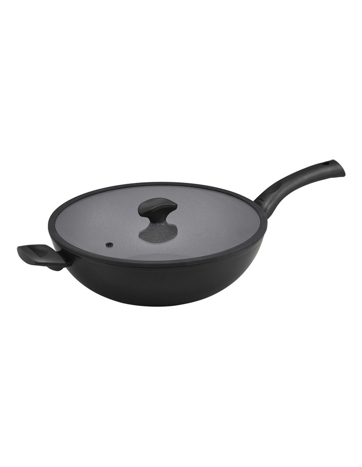 Per Salute 32cm Covered Stirfry with helper handle image 1