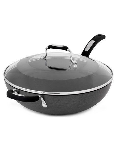 Hard Anodised Wok with Lid 32cm image 1
