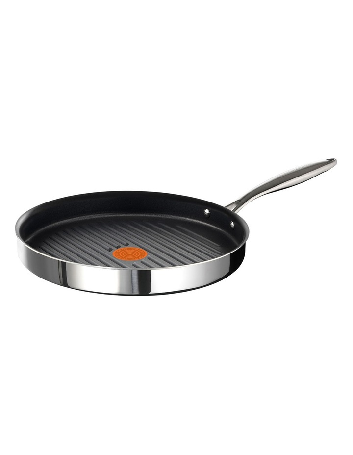 Heritage Triply Stainless Steel Grill Pan 26cm Induction image 1