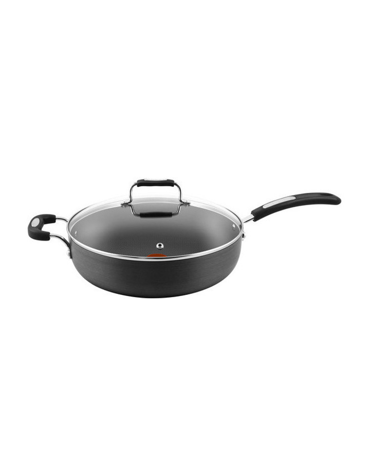 Hard Anodised Non-Stick Sautepan with Glass Lid, 30cm image 1