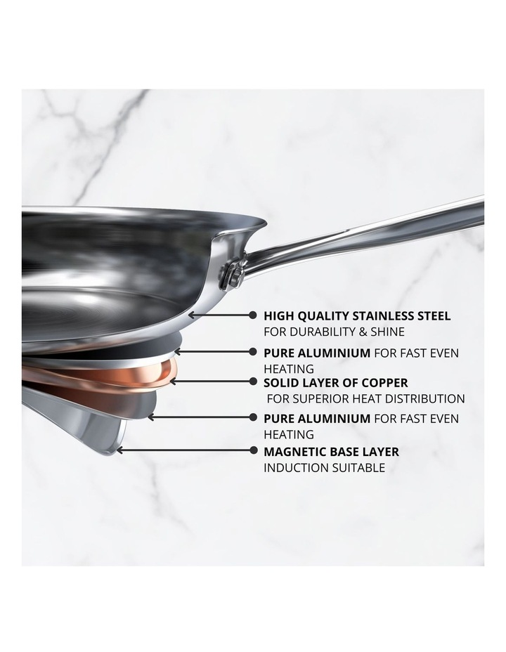 Per Vita Stainless Steel 28cm Stainless Steel Induction French Skillet image 2