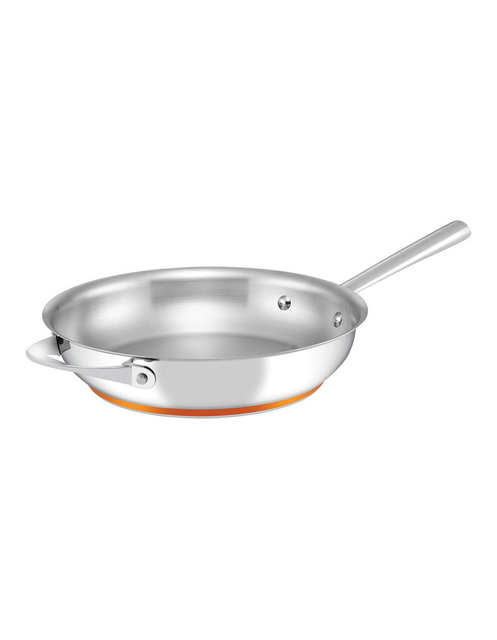 Per Vita Stainless Steel Copper 28cm Frypan: Made in Italy image 1