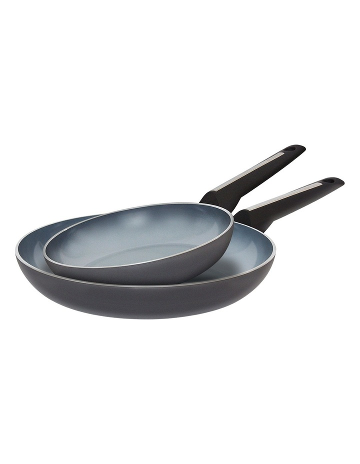 Per Moda Ceramic 20cm & 26cm Non-Stick Frypan Twin Pack: Made in Italy image 1