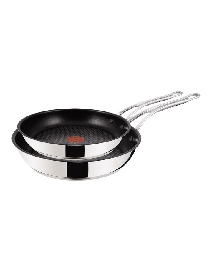Premium stainless steel 24cm & 28cm non-stick frypan twin pack image 1