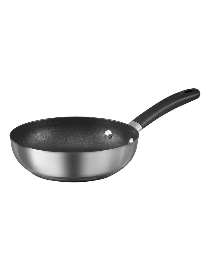 Ultimum Stainless Steel 20cm & 28cm non-stick frypan twin pack image 2
