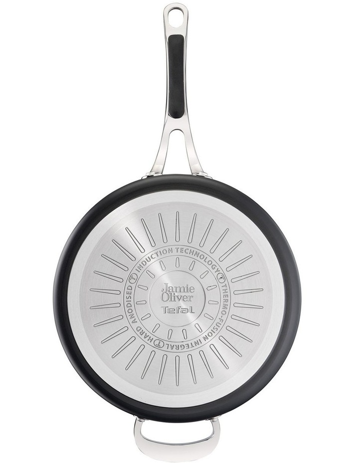 Cooks Classic Hard Anodised Induction Sautepan w/lid 26cm image 4