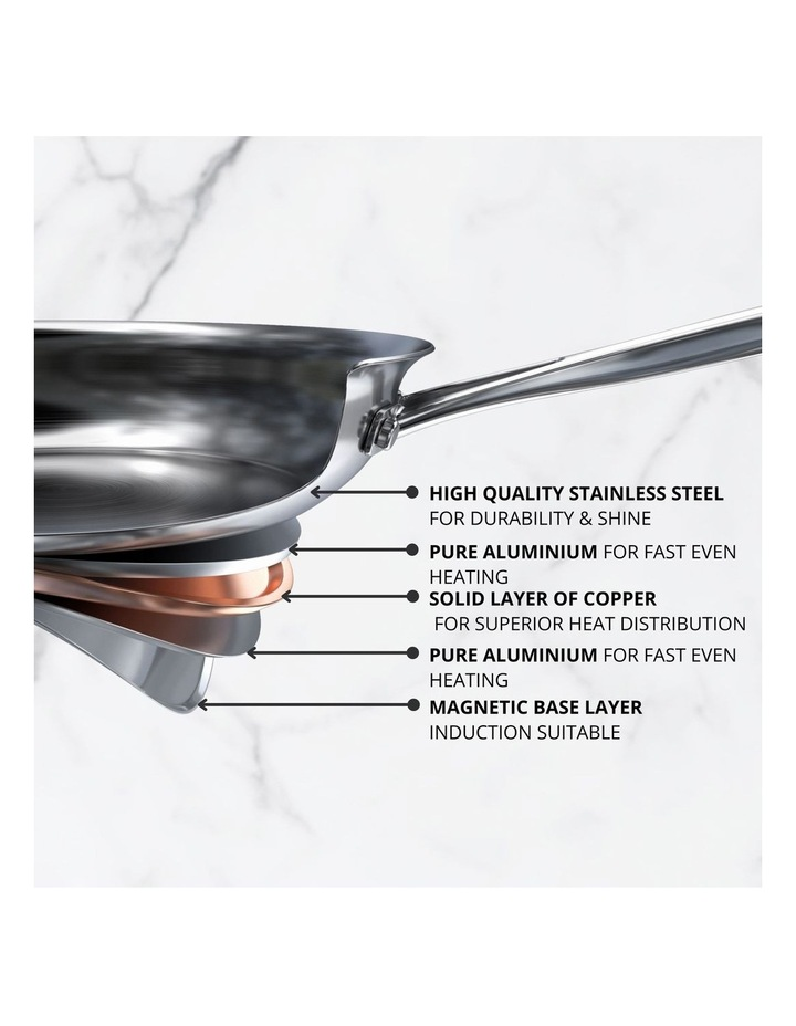 Per Vita Stainless Steel 24cm Stainless Steel Induction Open French Skillet image 3