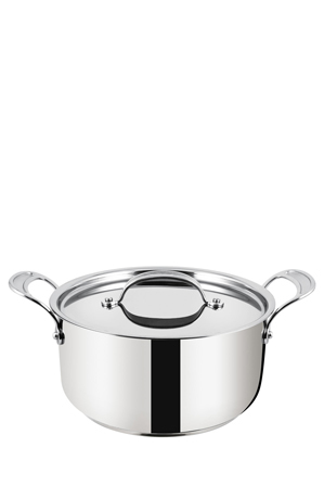 Jamie Oliver Tefal - Premium Stainless Steel Induction Stew Pot, 24cm