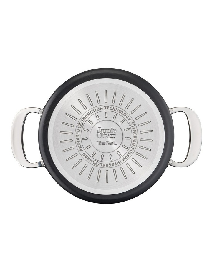 Cooks Classic 30cm Hard Anodised Induction Shallowpan with Lid in Coal Grey image 5