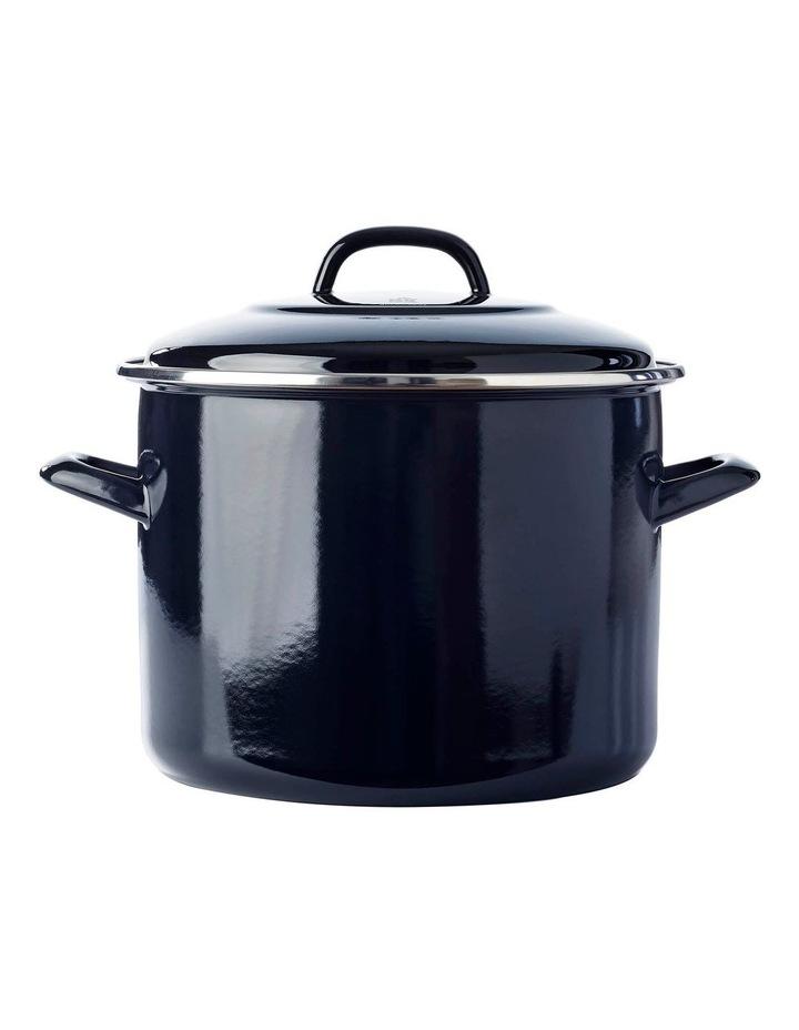 24cm/8.7L Covered Stockpot in Black image 1