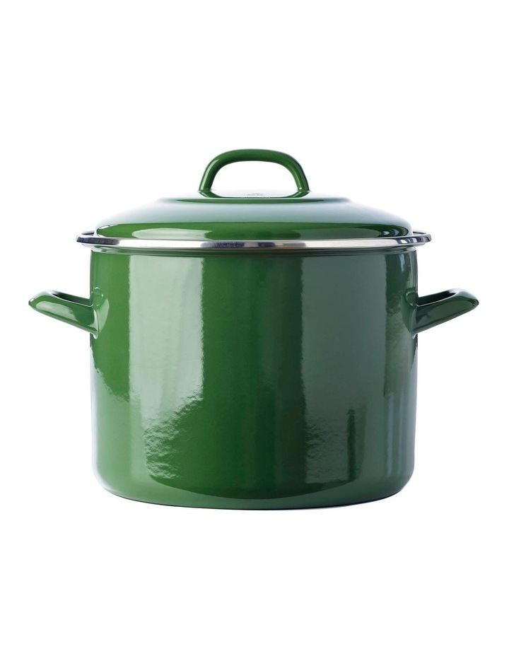 Covered Stockpot Green 24cm/8.7L image 1