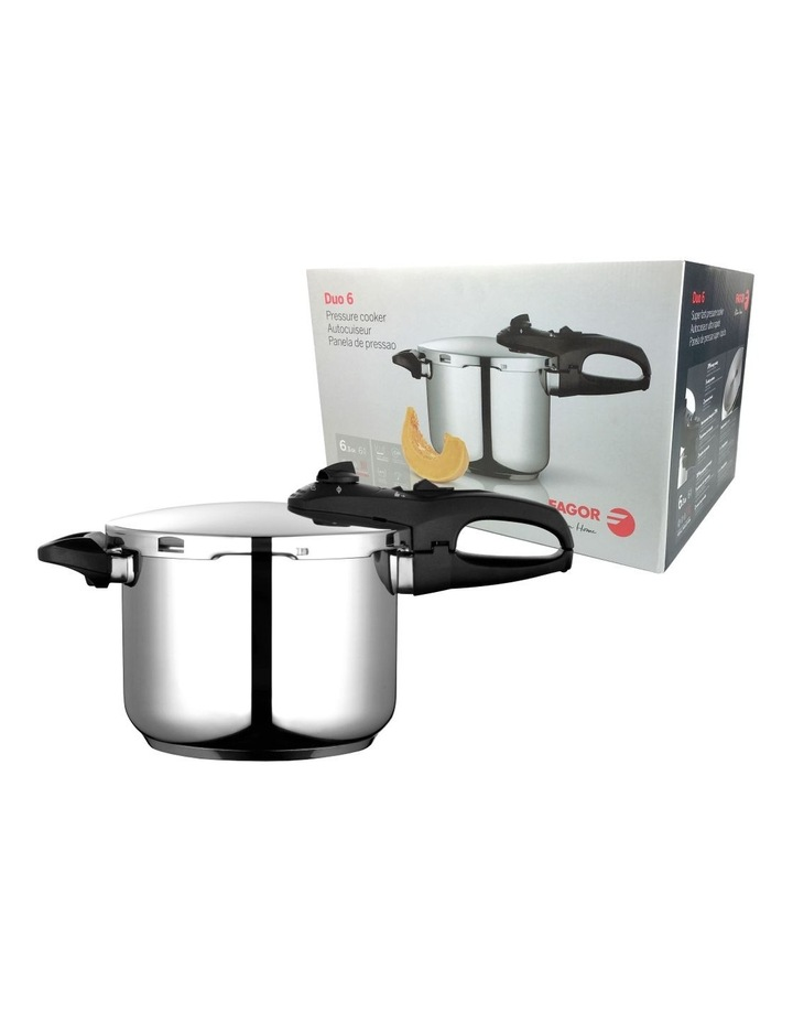 """""""Duo"""" Stainless Steel Pressure Cooker 6L image 1"""