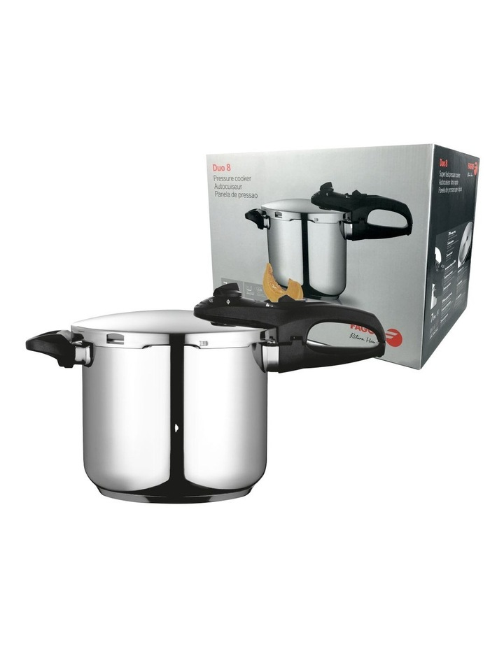 """Duo"" Stainless Steel Pressure Cooker 7.5L image 1"