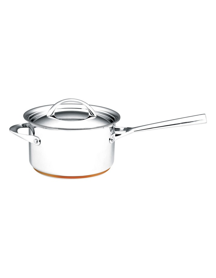 Per Vita Stainless Steel Copper 20cm/3.8L Saucepan: Made in Italy image 1